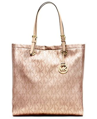 MICHAEL Michael Kors Handbag, Signature Metallic North South Tote - All  Handbags - Handbags \u0026 Accessories - Macy\u0027s