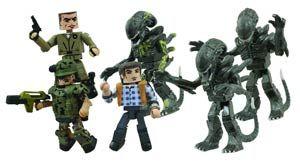 #Aliens Minimates Aliens vs Marines Army Dump - Midtown Comics