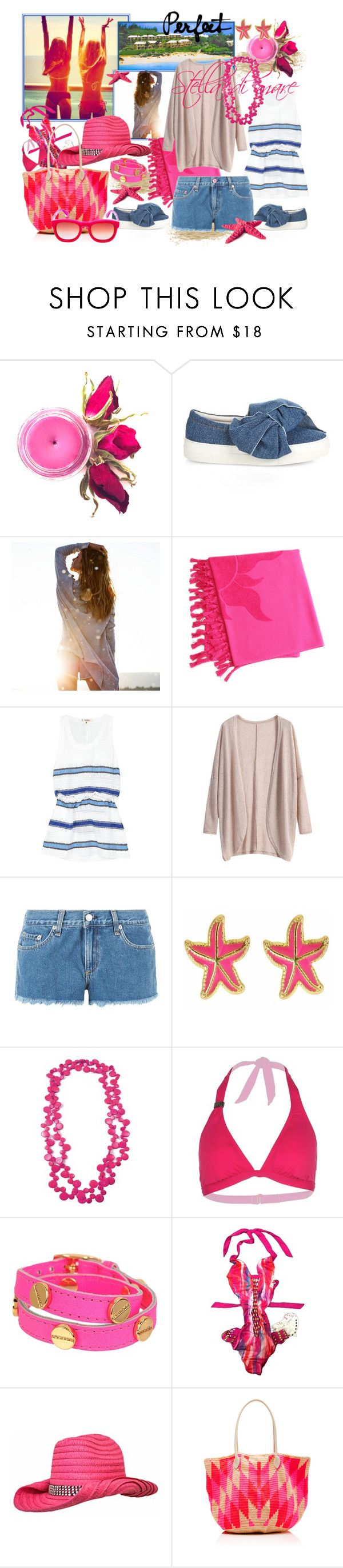 """""""Stella di mare"""" by tasha1973 ❤ liked on Polyvore featuring Joshua's, American Eagle Outfitters, Linum Home Textiles, Lemlem, rag & bone, Fornash, LolÃ«, CC SKYE, Beach Bunny and Sophie Anderson"""