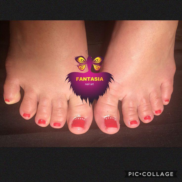Red élégance #nailtach #naildesign #tengel #polypolish, #torontonails #nailswag #pedicure #purls