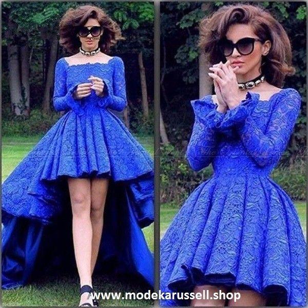 Spitzen Vokuhila Abendkleid Soroka in Königs Blau