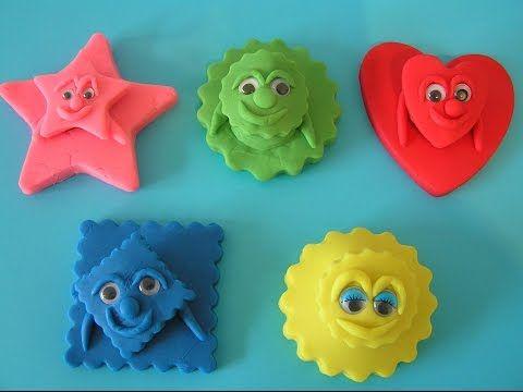 Play Doh 5 Surprise Funny Faces Aquinkie Angry Birds Disney Cars Dora the Explorer - YouTube