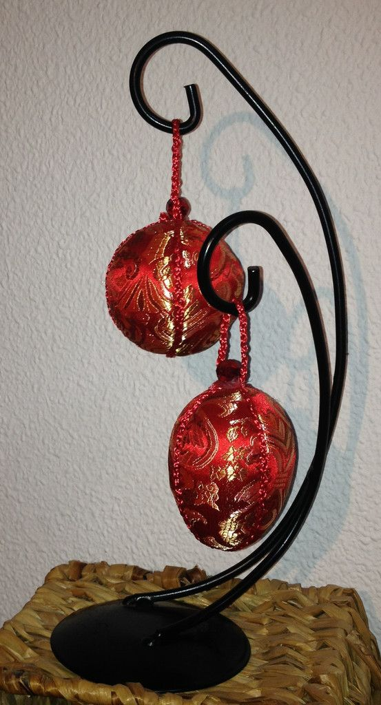 Art 3 - Dekoration röd siden - Seda roja decoración  http://marinas-tienda-de-artesanias.myshopify.com/