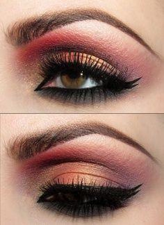 Sunset eye. Love double liner.