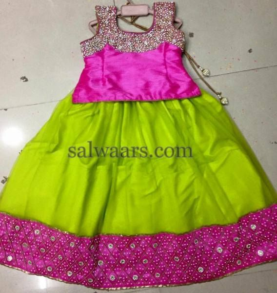 Light Green Pink Lehenga - Indian Dresses