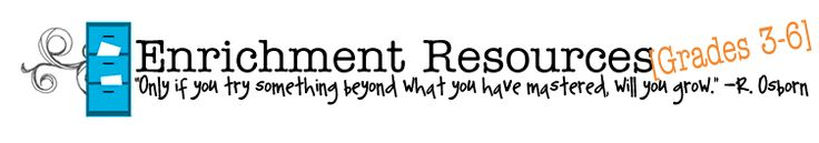 Enrichment Resources for 3rd-6th from Hillsboro R-3 e3: Enrich. Extend. Expand.