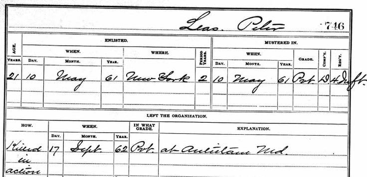 Our newly discovered UnionPrivate Peter Leies was born at Huberhof, Nunschweiler, Germany in 1841 and killed in action at the Battle of Antietam on September 17, 1862 in the single most blood…