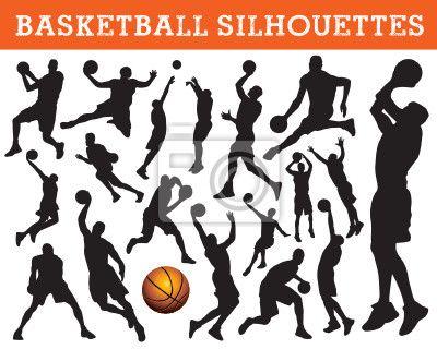 Sticker Mural s de basket-ball - claquer - dunk • PIXERS.fr