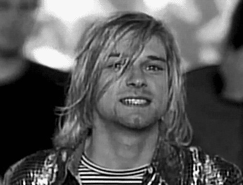 Heart Shaped Box video: Kurt fake smiles