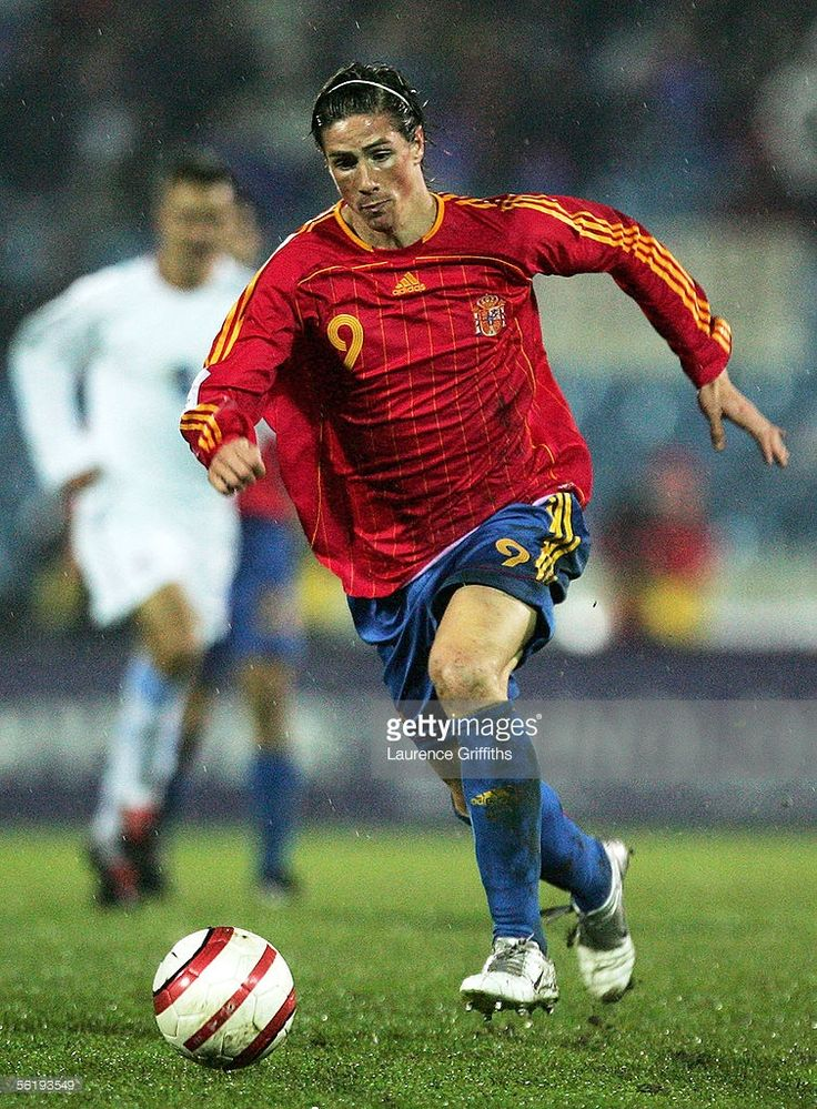 Fernando Torres of Spain in action during the FIFA 2006 World Cup Playoff match between Slovakia and Spain on November 16, 2005 at The Slovana Stadium in Bratislava, Slovakia.