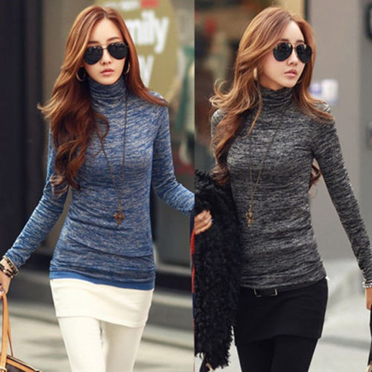 秋冬女性タートルネックセーターファッション高ネックロングスリーブスリムノベルティプルオーバー黒青ニットトップスプラスサイズ
