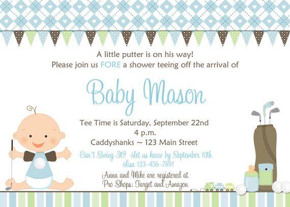Golf Baby Shower Invitation  Golf baby  boy by TheButterflyPress, $12.00