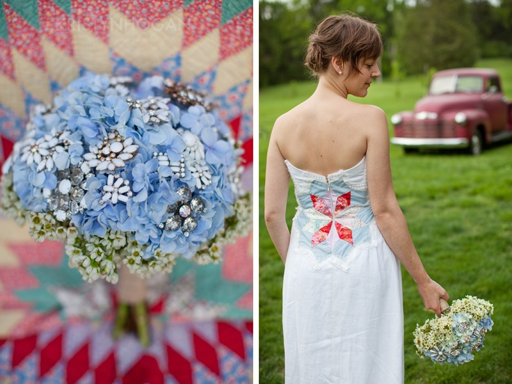 Quilt piece wedding dress- wow