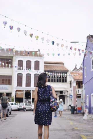 Walking around the pretty, lantern clad streets of Georgetown in Penang, Malaysia looking for art and photo opportunities.