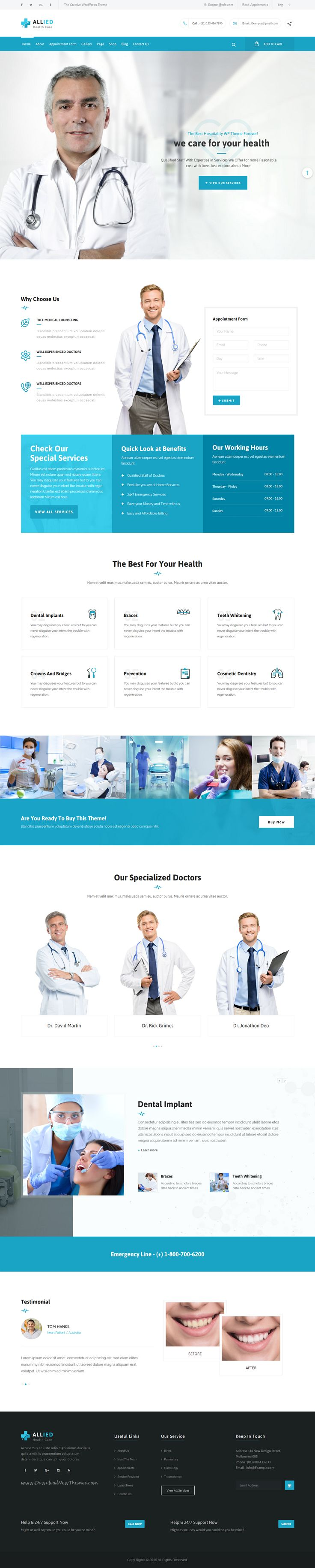 Allied medical is a perfect 3 in 1 @Bootstrap #HTML theme for health and…