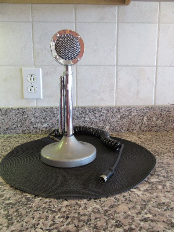 Vintage Ham C/B radio microphone looks by HeathersCollectibles