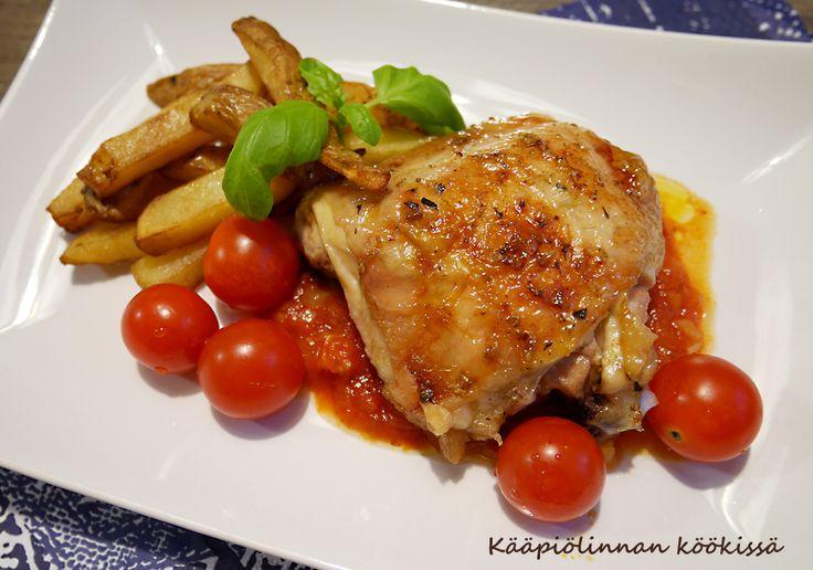 Kääpiölinnan köökissä: Simppeli sitruunabroileri tomaattikastikkeen kera