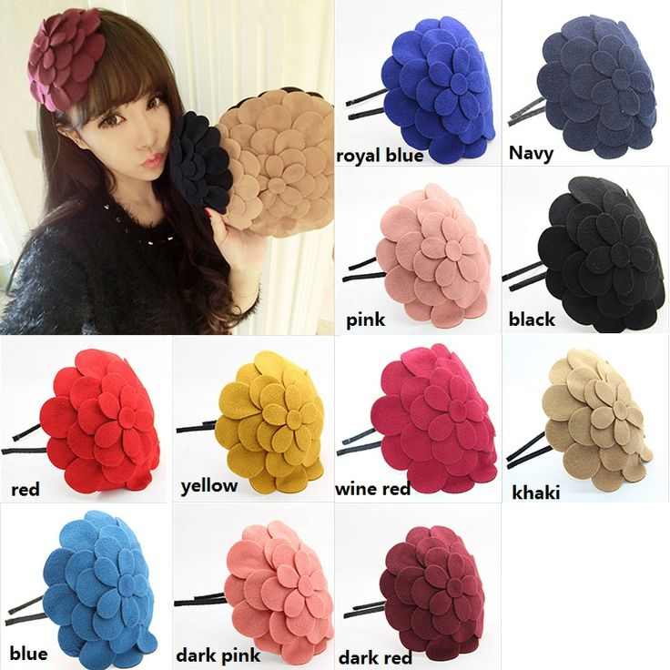 Cheap flower girl dresses with cap sleeves, Buy Quality flower directly from China flower production Suppliers:  Big Multi-layer Flower Decoration Hair Band WomenFashion Hair Accessories Hairpin Woolen Flower Headdress Hair