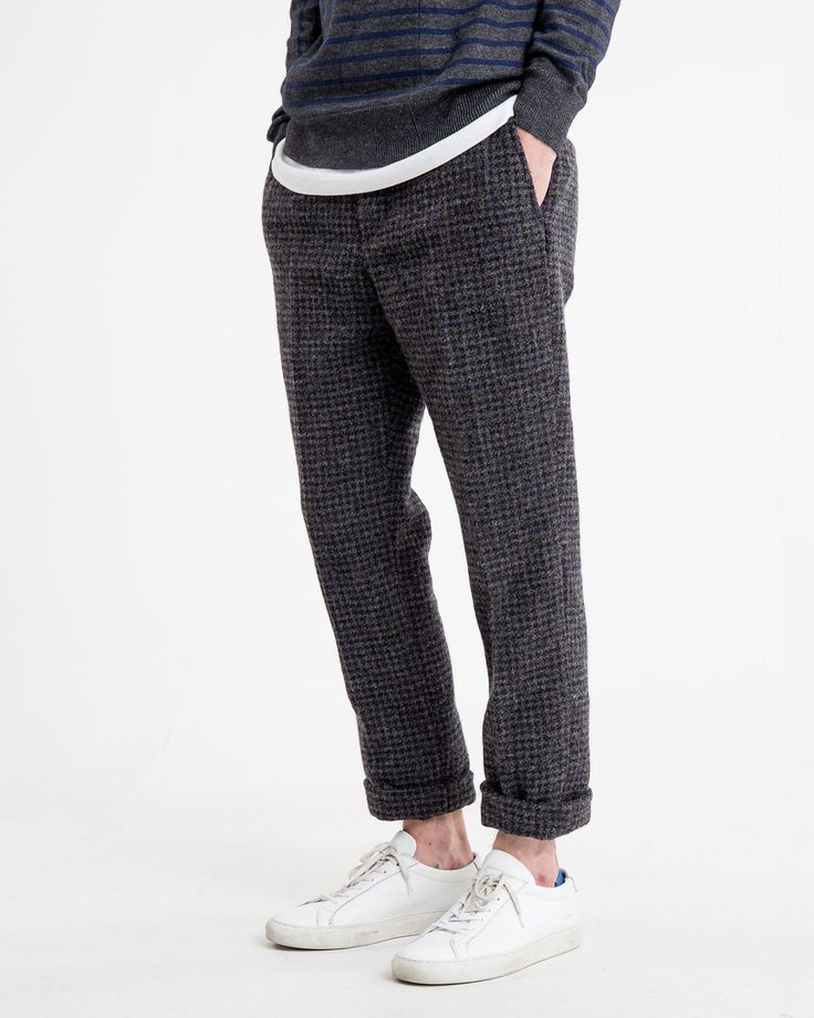 Wool Check Trousers   Sacai