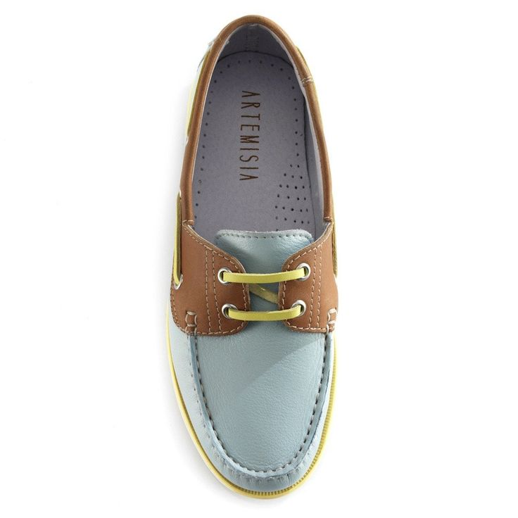 Diana Pastel Blue Boat Shoes