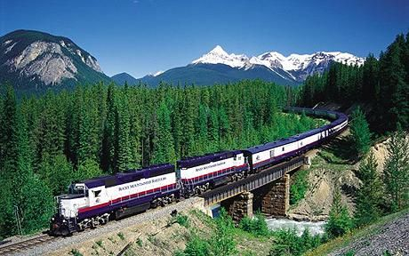 Take the 7-day Skytrain trip. Through the Rocky Mountains, Vancouver, and other amazing places.