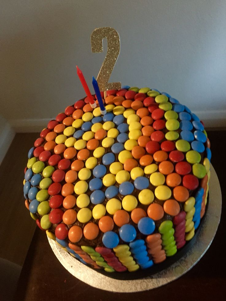 Smartie Piñata Cake