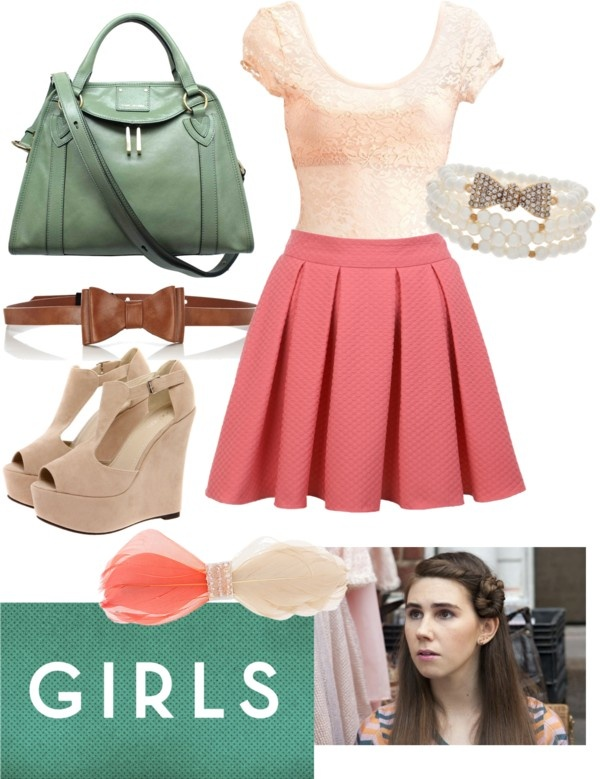 Lovely  Shoshanna of Girls by wilmadanger on Polyvore