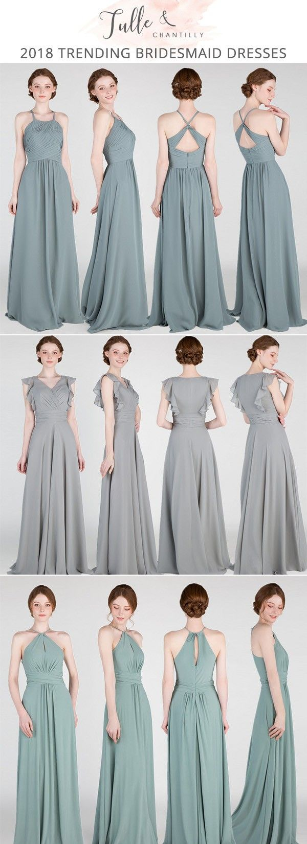 shades of green bridesmaid dresses for 2018 #bridalparty #bridesmaiddresses #greenerywedding #wedding