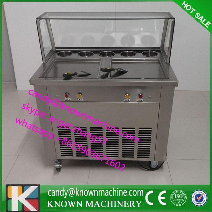 939.00$  Buy now - http://alis44.shopchina.info/1/go.php?t=32707488702 - Ice Cream Fried Yogurt Machine(free ship by sea) double pans  #SHOPPING