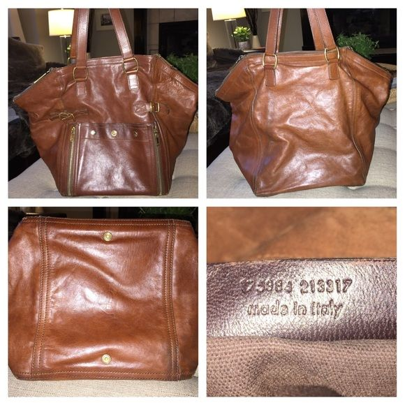 Auth YSL Yves Saint Laurent Downtown Handbag Tote Pre-loved and ...