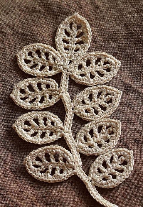 Outstanding Crochet: Irish Crochet. Branch pattern/tutorial.