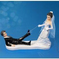 Couple de Mariés en Résine 11 cm avec Lasso