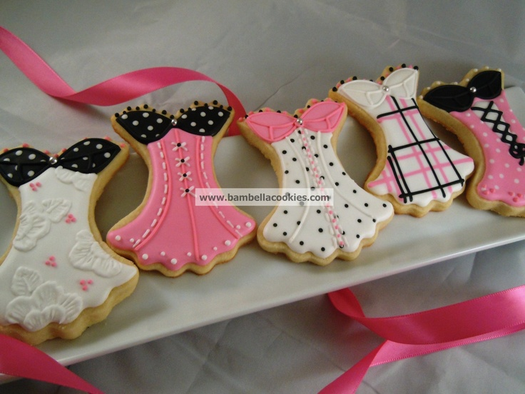 Corset cookies for bachelorette party and free Passion Parties at http://PassionFairyGodmother.com