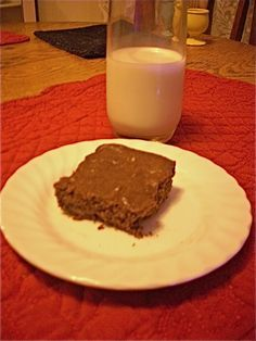 pb oat flour low fat brownies - FP with peanut flour, xylitol, and egg white