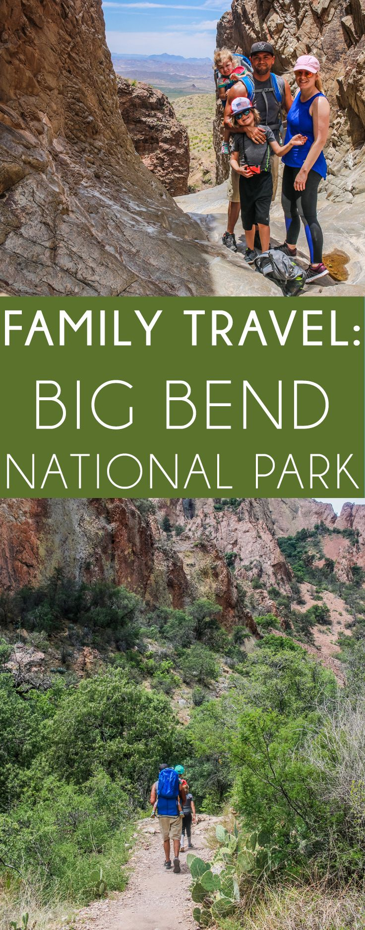 Big Bend National Park in Texas Trip! Our family travel to Big Bend; Everything from where we stayed, what we hiked, what we brought to eat. Our trip to Big Bend with a toddler & kid. A realistic & family friendly guide for Big Bend National Park & what trails our family took. PS - Window Trail is a must! ;)