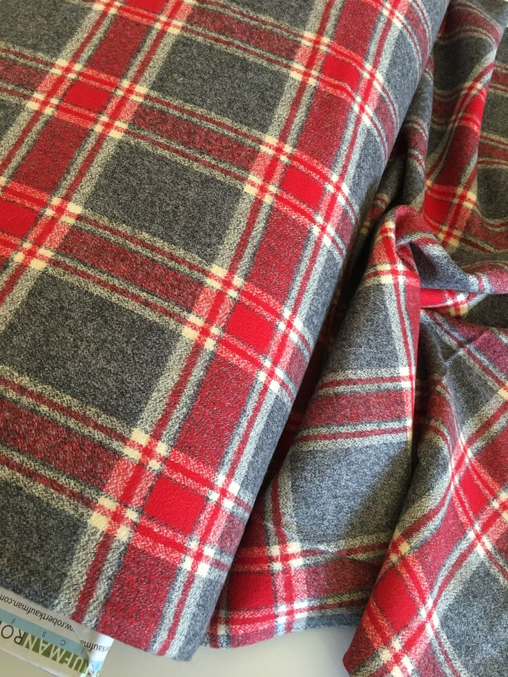 Hygge fabric, Hygge Home, Mammoth Flannel fabric, Plaid flannel, Apparel fabric, by Robert Kaufman, Mammoth Flannel Red 263 by FabricShoppe on Etsy https://www.etsy.com/listing/512448659/hygge-fabric-hygge-home-mammoth-flannel