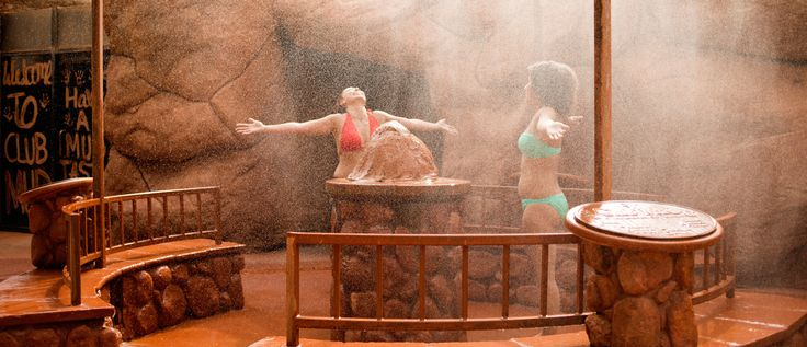 Glen Ivy Hot Springs - can have clay treatment in underground cave, hot springs pool, massages side by side outdoors