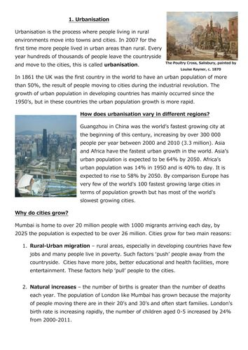 GCSE Geography Revision: Challenges of the Urban World