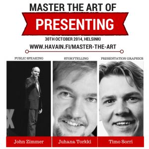 """During our """"Master the Art of Presenting"""" -seminar, we will cover several important aspects of a good presentation. In the meantime, here are my five quick tips for you."""
