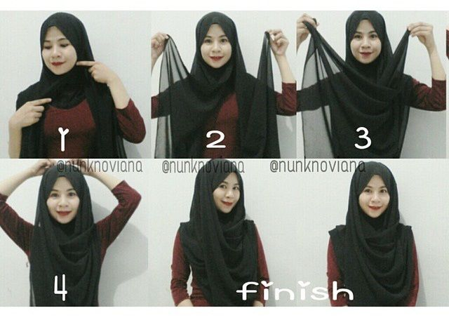 This is a great idea of wearing hijab, someting I must say_new to the hijab tutorials we've been sharing during the last 2 years, it's well covered and easuly tied back, Follow the steps listed below and you will get…