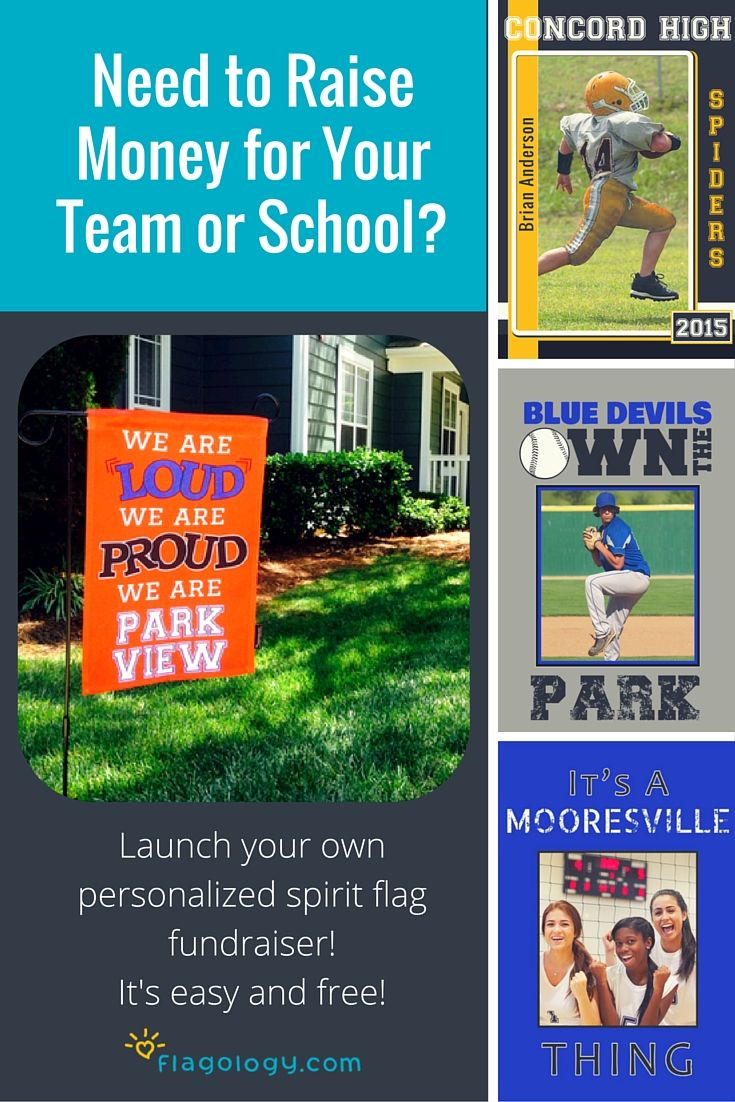 Raise money for your team or school with our free and easy fundraising program! Put your heart on your flag!