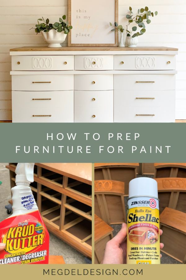How To Prepare Furniture For Paint Painting Diy White