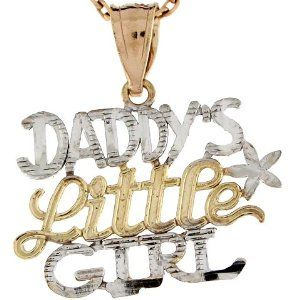 10k Two Tone Real Gold 1.9cm Daddy's Little Girl Designer Charm Pendant Jewelry Liquidation. $86.76. Made in USA!. Made with Real 10k Gold!