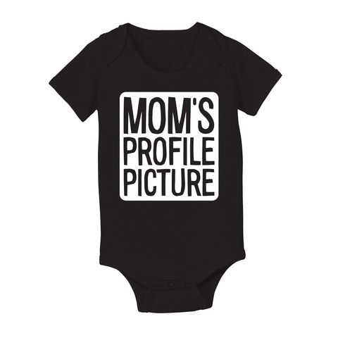 Mom's Profile Picture Infant One Piece – KidTeez