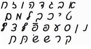 Image result for hebrew alphabet cursive notebook lines
