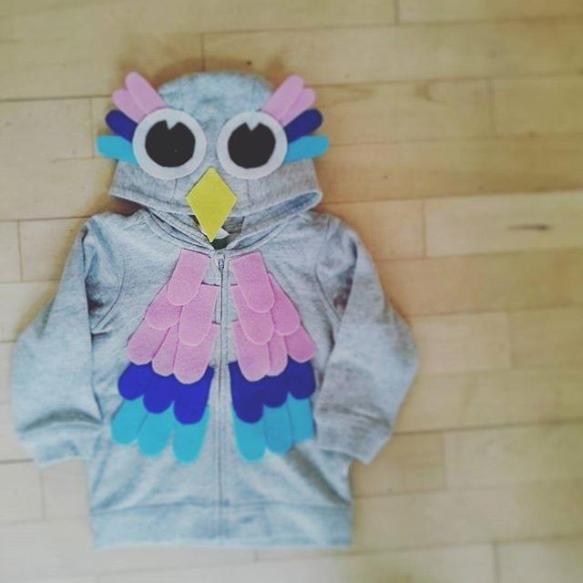 En ugle til zoofest på fredag 🎈  #diy #udklædning #homemade #agnes #hobby #limpistol #mommylife #costumeparty #kreamor #zoologiskhavefest #owlcostume #kidscostume #børneudklædning