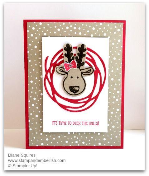 cookie cutter reindeer swirly F