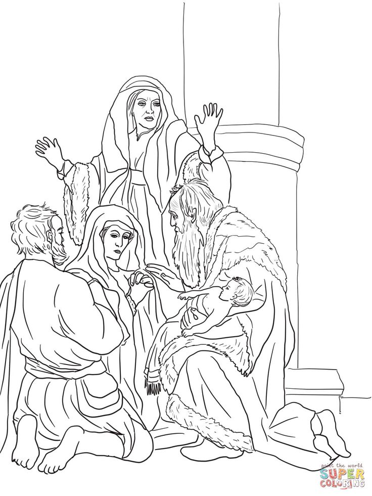 simeon and anna coloring pages - photo#20