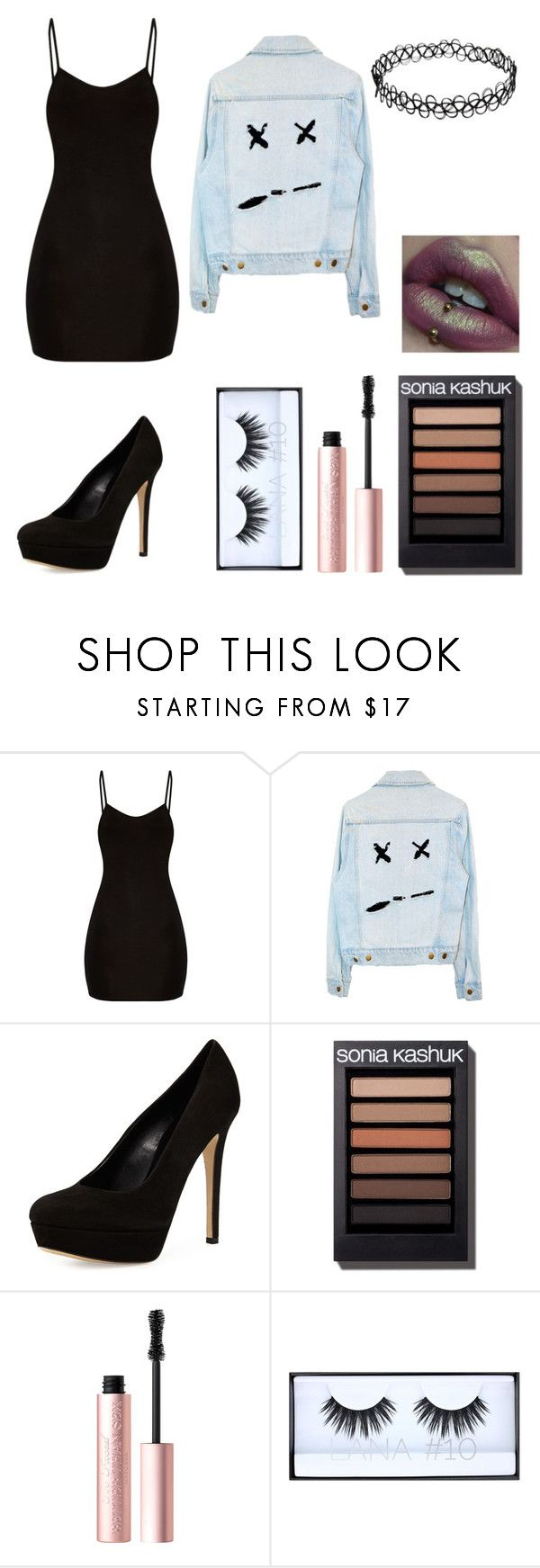 """You thought I'd die without you but I'm living"" by dangerousmistake ❤ liked on Polyvore featuring Charles David, Too Faced Cosmetics and Huda Beauty"