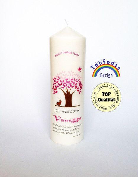 Taufkerzen - Taufkerze Baum - ein Designerstück von DieTaufoase bei DaWanda